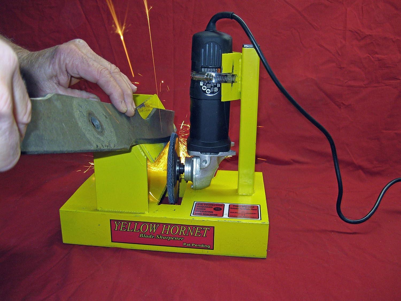 91cGAv2uLXL._SL1500_ amazon com yellow hornet lawn mower blade sharpener grinder  at creativeand.co