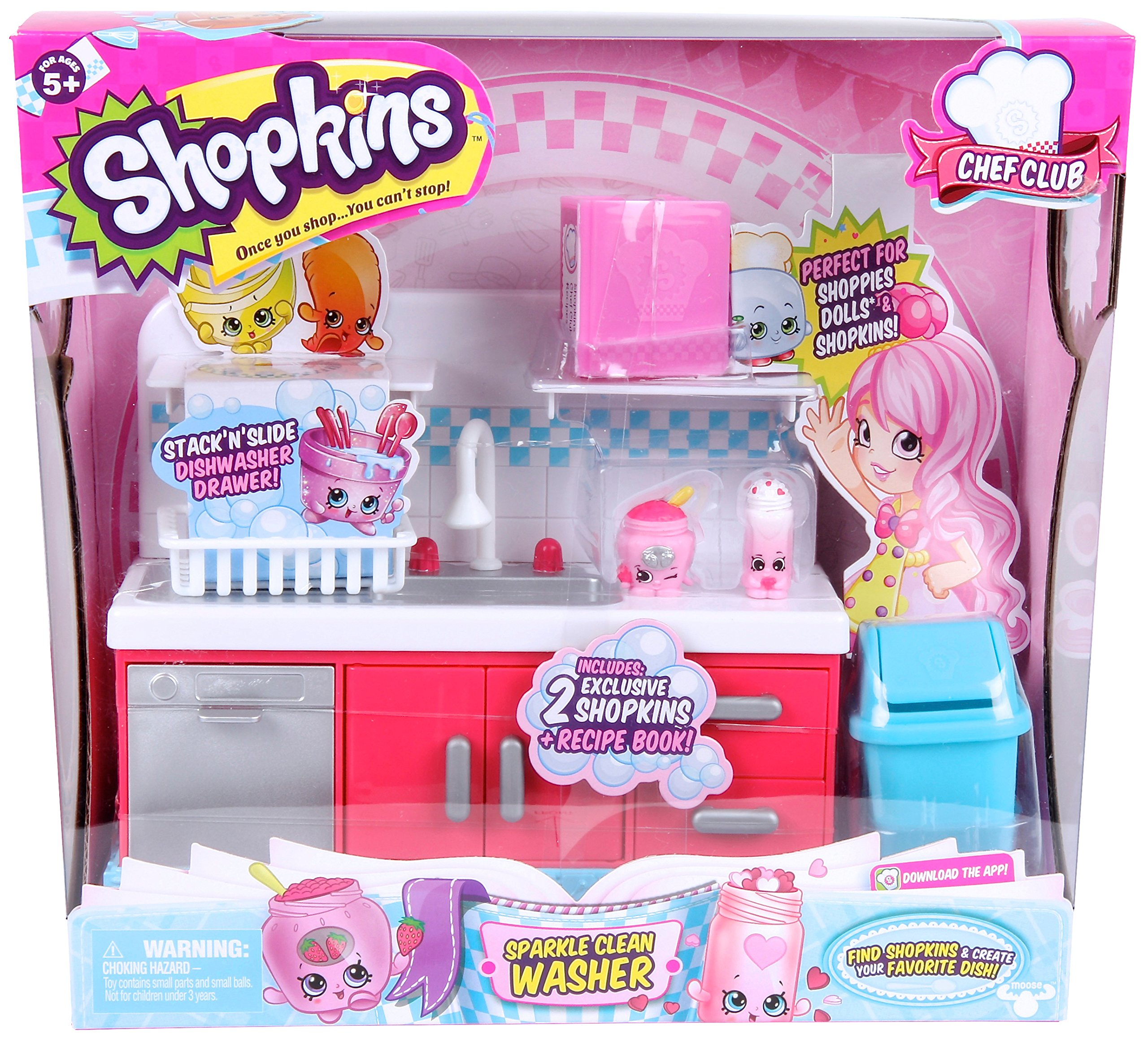 Amazon Shopkins Chef Club Sparkle Clean Washer Toys Games