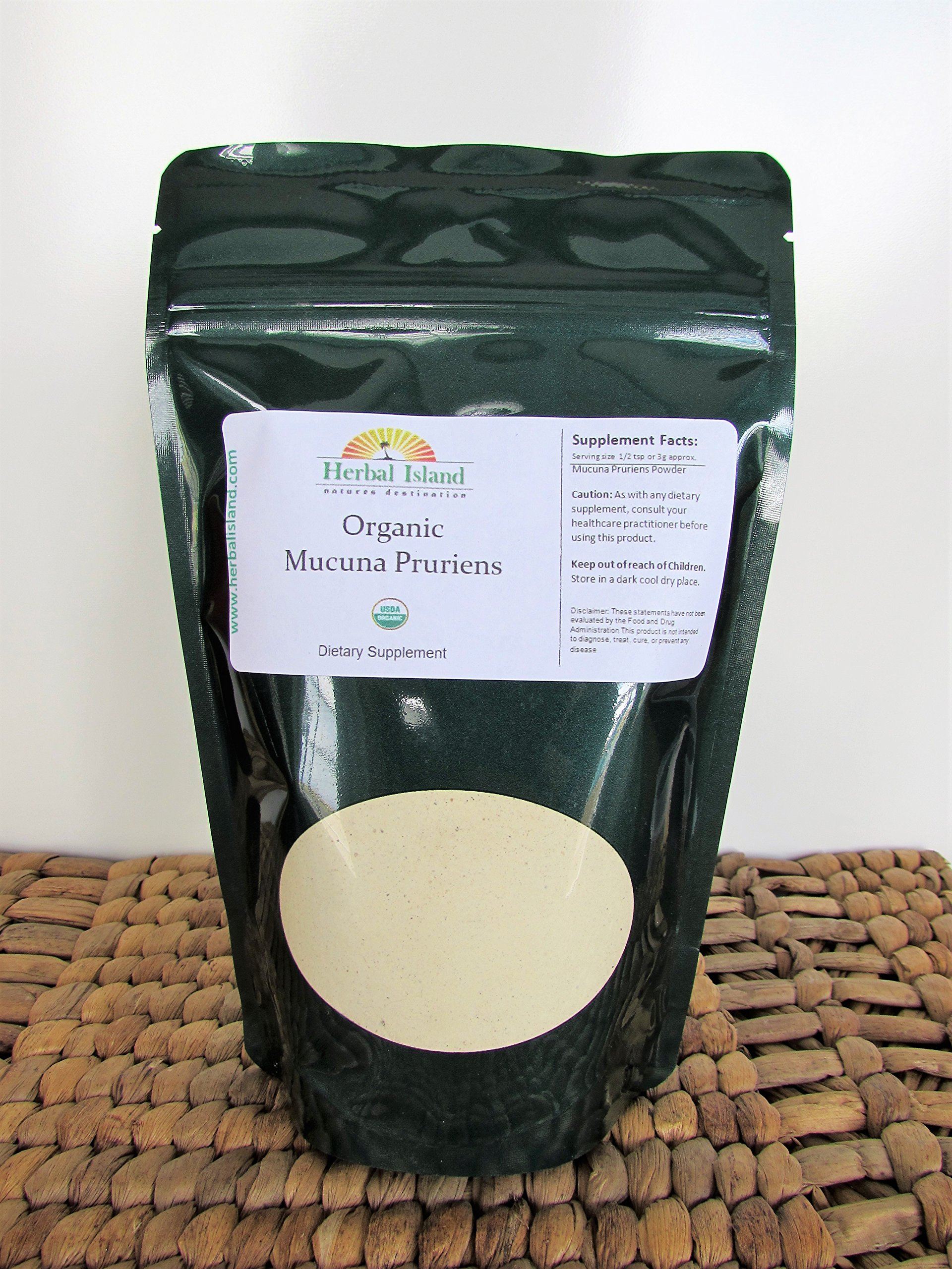 Mucuna Pruriens - (1 Kg or 2.2 LB Bulk) Extract Powder 20% L-Dopa Velvet Bean with Free Shipping