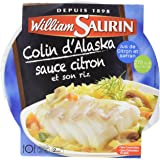 William Saurin Filet Colin Alaska sauce citron - 300 g - Lot de 4