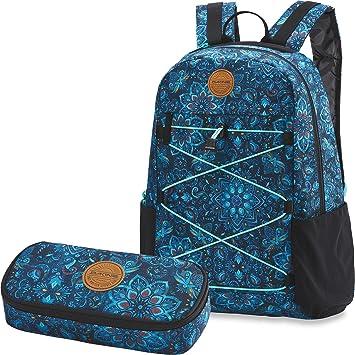 30e1015094619 Dakine 2er Set Rucksack Schulrucksack Laptop Wonder 22l + School Case  Mäppchen Blue Magnolia