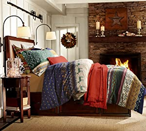 UFO Home 300 Thread Count 100% Yarn-dyed Cotton Flannel Advanced Printing Deer 2pc Pillow Shams 4pc Duvet Cover Sets Full/Queen Size