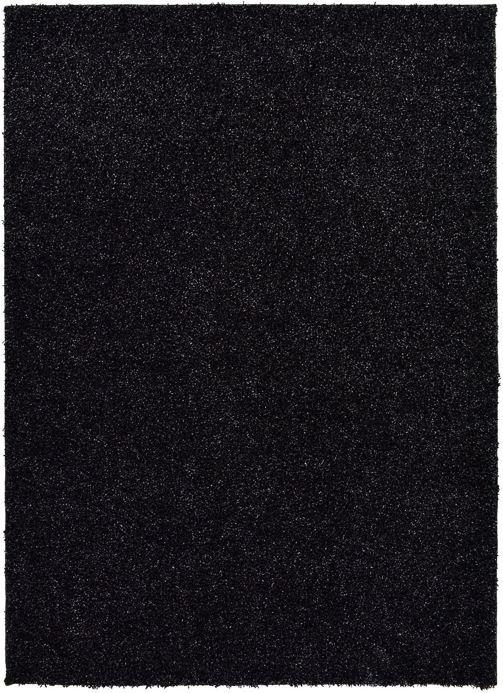 RugStylesOnline Solid Color New Shag Area Rug Rugs Shaggy Collection Anthracite Black, 7 10 x9 10