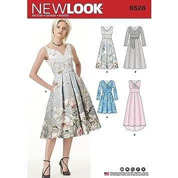 New Look Schnittmuster 6526 Damen Kleid mit miedervarianten, Papier ...