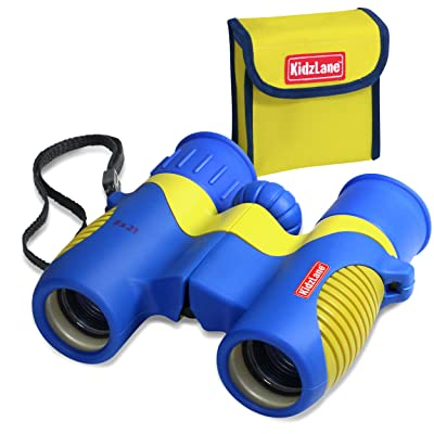 Kidzlane Binoculars for Kids - 8x21 - for Bird Watching, Star Watching, with Carrying Case, Durable and Kids Friendly: Toys & Games