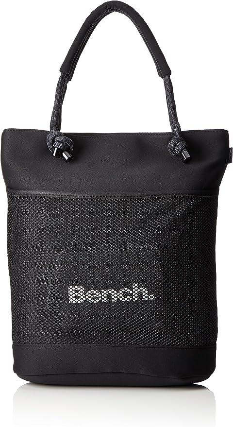 Bench Mesh néoprène Shopper Sac à Main Black Beauty, 40.6 x