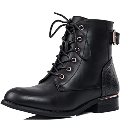 70e80acd576d1 Spylovebuy Chasity Women s Lace Up Flat Ankle Boots Shoes  Amazon.co.uk   Shoes   Bags