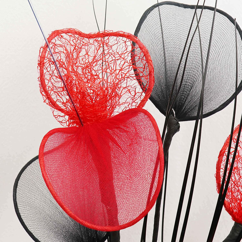 Flourish 794279 32 cm Assorties Lot de Mini Motif fleurs artificielles dans Vase Bleu sarcelle//bleu