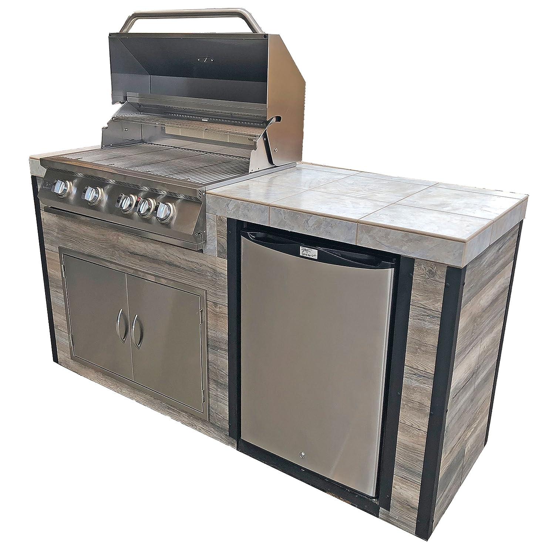 Peachy Amazon Com Kokomo Grills Elite Bbq Island Outdoor Kitchen Interior Design Ideas Clesiryabchikinfo