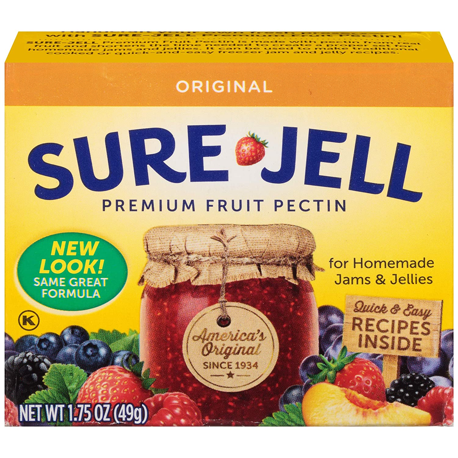 Sure-Jell Premium Fruit Pectin, 1.75 Ounce Box (Pack of 8)