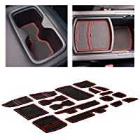 CupHolderHero for Honda Accord Accessories 2018-2021 Premium Custom Interior Non-Slip Anti Dust Cup Holder Inserts, Center Console Liner Mats, Door Pocket Liners 17-pc Set (Red Trim)
