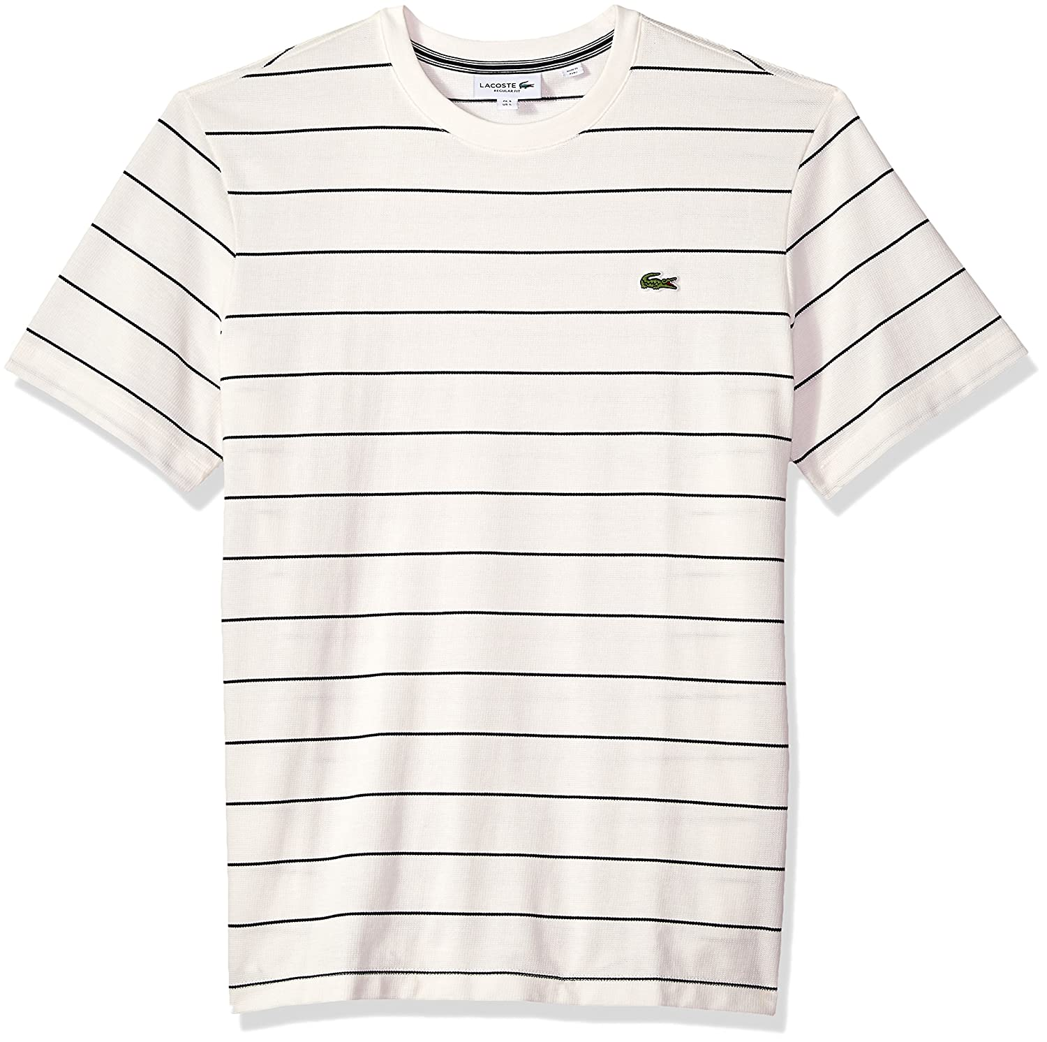 3650368904012 Lacoste Men s Short Sleeve Heritage France Stripe Waffle Reg Fit T-Shirt