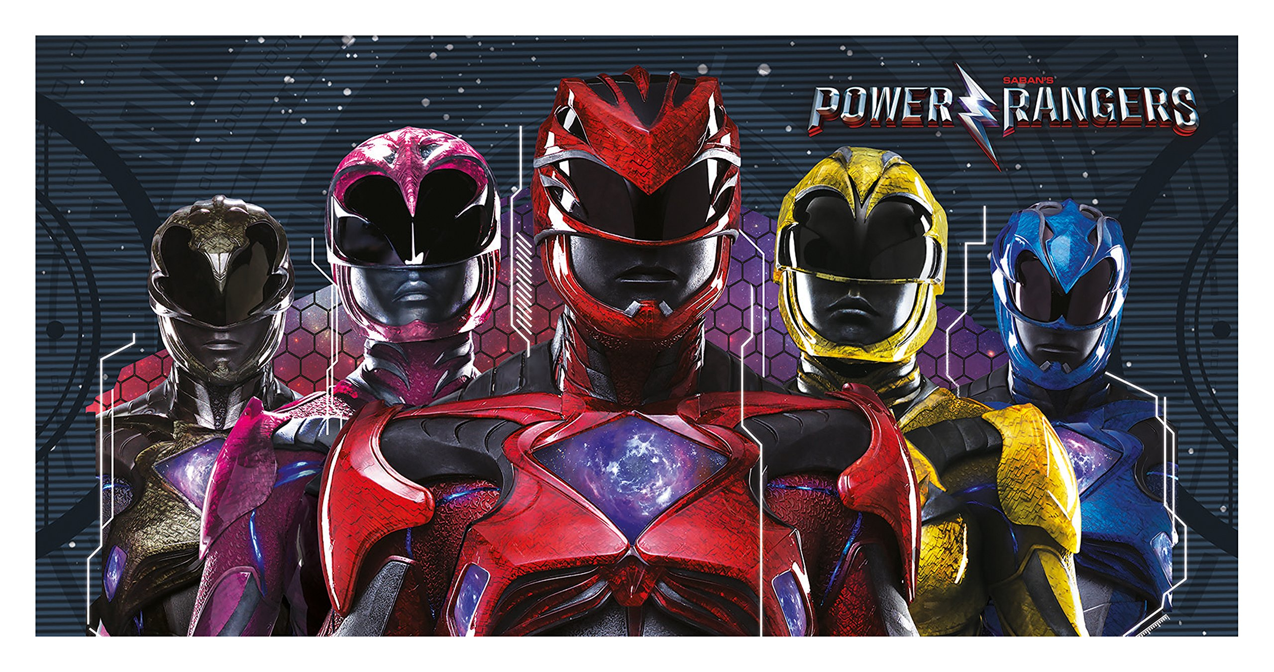 Power Rangers Movie Towel, Multicolour