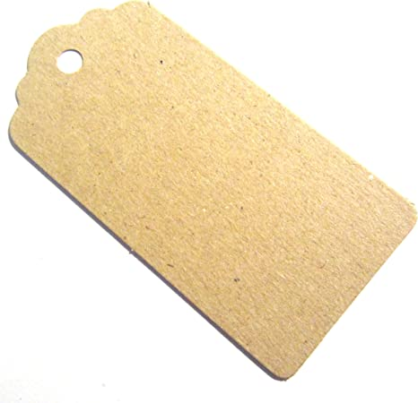 25x Wood Gift Tags Wedding Scallop Label Natural Blank Luggage Favours Tags