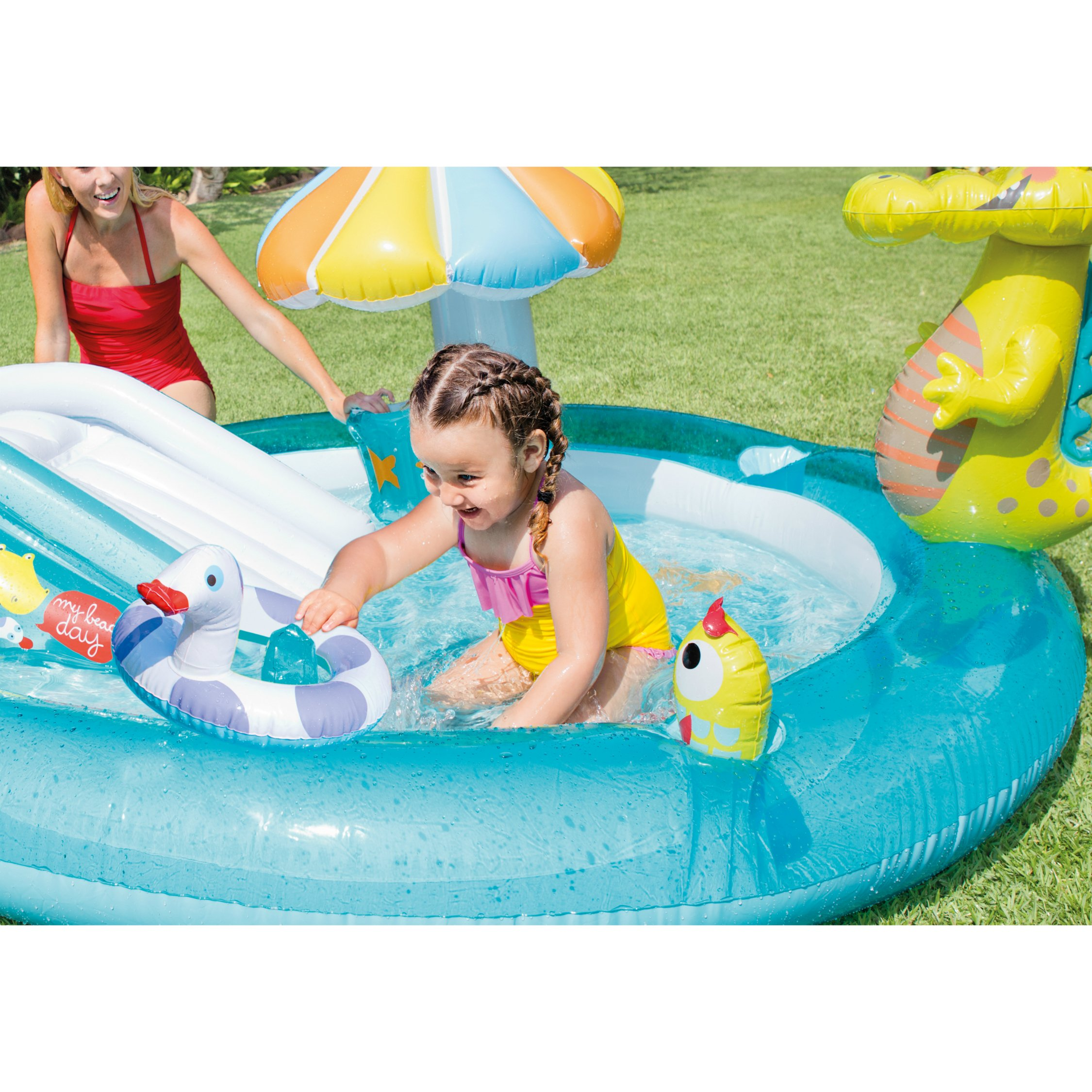 Intex Gator Inflatable Play Center, 80'' X 68'' X 35'', for Ages 2+ by Intex (Image #4)