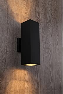 Cerdeco 37858TZ Brandon 2 Light Outdoor Wall Lamp, Matte Black [UL Listed]