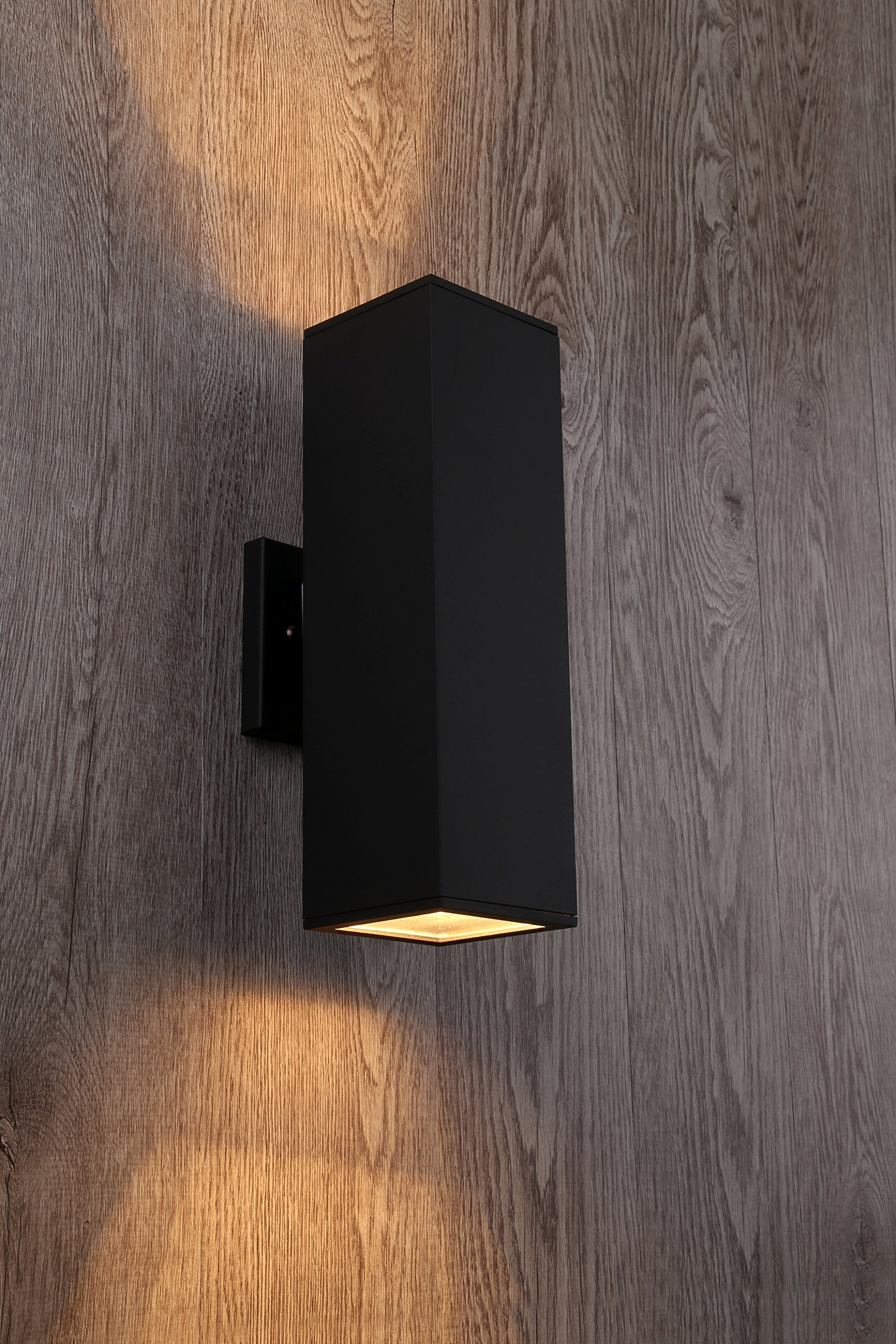 Cerdeco 37858TZ Brandon 2-Light Outdoor Wall Lamp, Matte Black [UL Listed] by Cerdeco