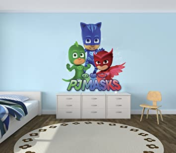 "PJMasks - Kids Wall Decal Nursery For Home Bedroom Children (Wide 20"" x 28"""