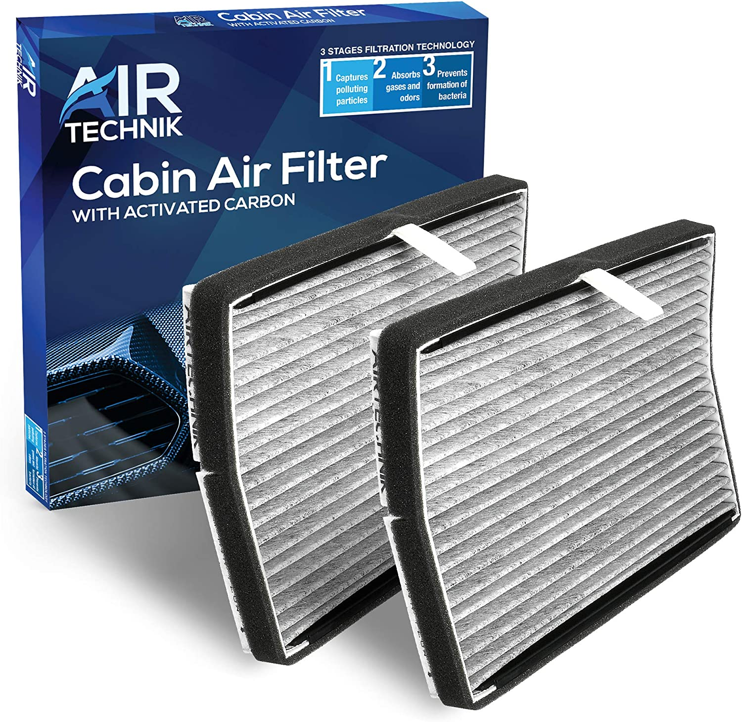 Premium Cabin Air Filter w//Activated Carbon AirTechnik CF8392A Replacement for Chevy//Buick//Pontiac 2 Pack