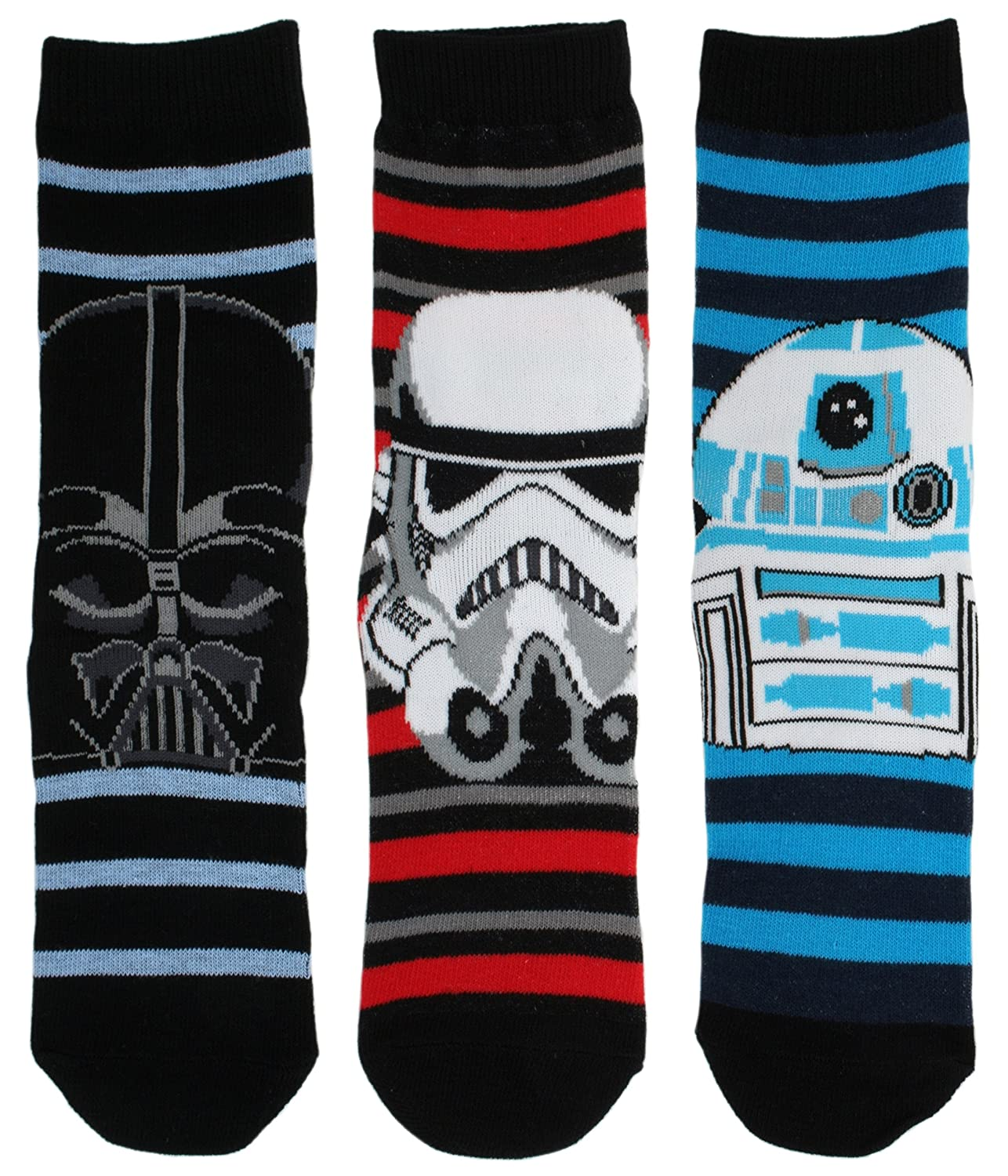 Disney Character 3 Pack Kids Cotton Rich Socks Star Wars