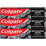 Colgate Charcoal Teeth Whitening Toothpaste with Fluoride, Natural Mint Flavor, Vegan - 4.6 ounce, 3 pack (packaging may vary
