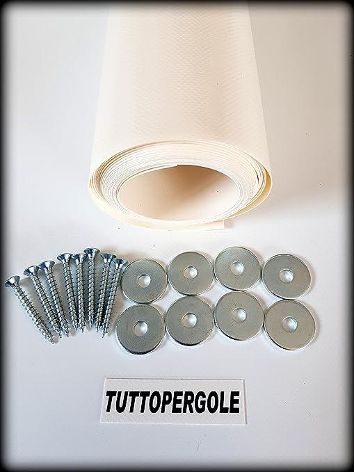 Sconto speciale grande sconto di vendita bellezza TUTTOPERGOLE Copertura con Fasce in PVC Pieno Adatte per strutture in Legno  (Cm 330 X Cm 50, Avorio)