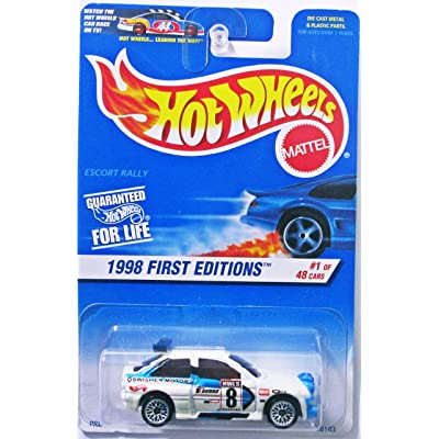 Hot Wheels 1998 First Editions #1 of 48 Cars Escort Rally Collector #637 on Card Variation: Toys & Games