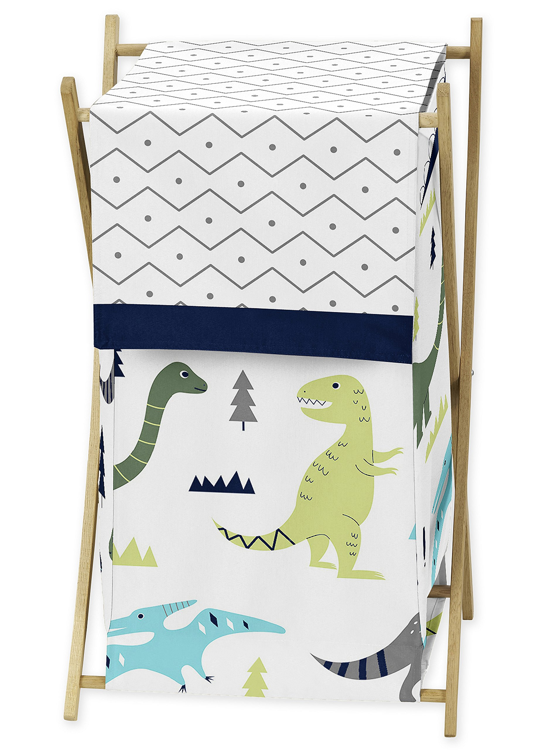 Sweet Jojo Designs Baby Children Kids Clothes Laundry Hamper for Blue and Green Modern Dinosaur Bedding Set by Sweet Jojo Designs