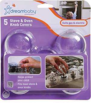 Dreambaby Stove & Oven Knob Covers, Clear. 5 Count