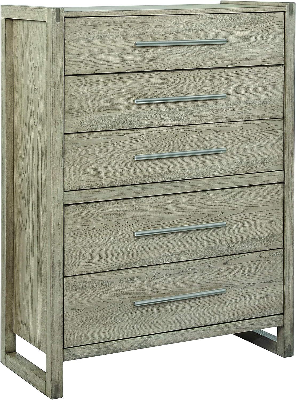 Coaster Home Furnishings Smithson 5-Drawer Rectangular Grey Oak Chest