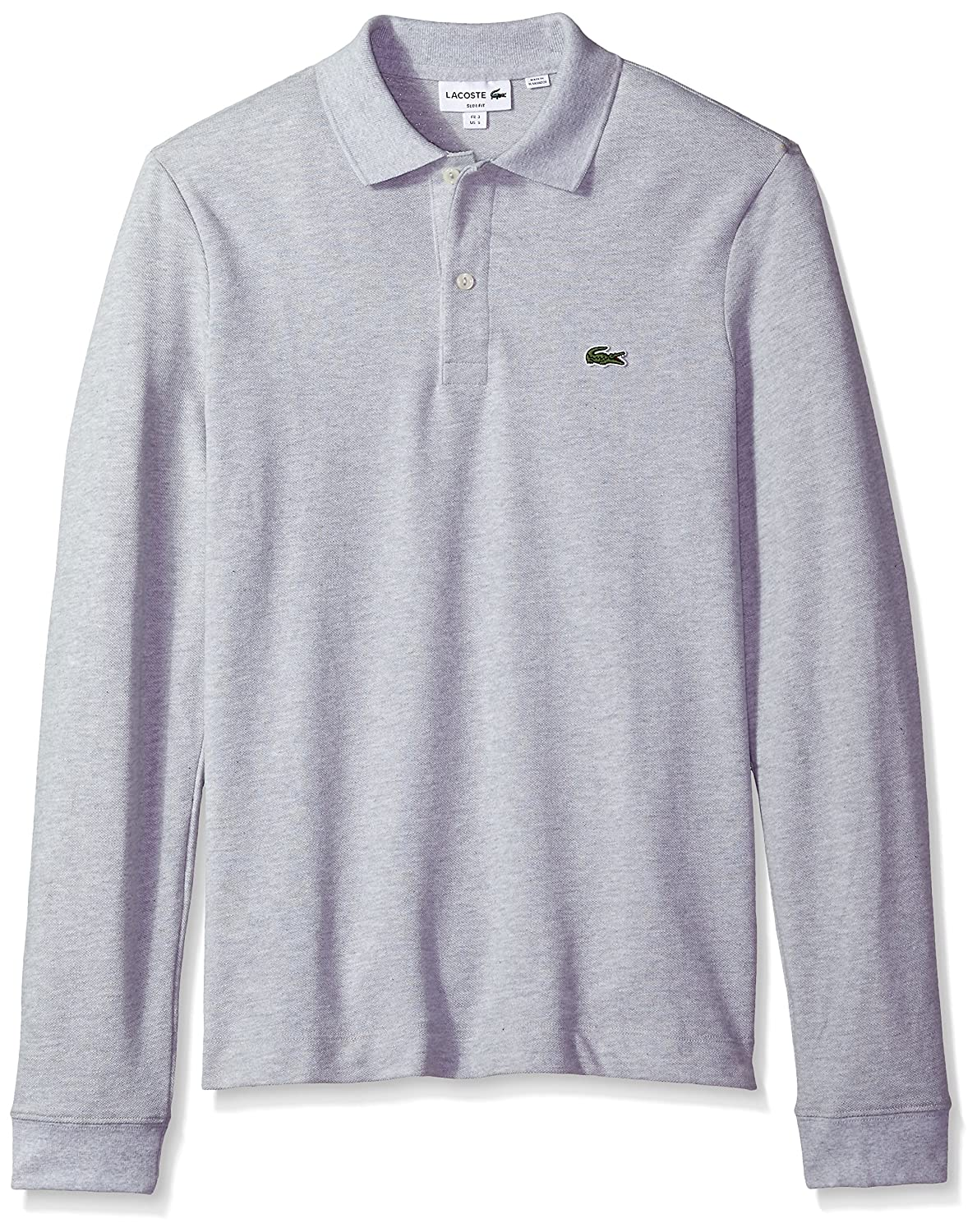 8e428d8b1 Lacoste Mens Long Sleeve Classic Slim Fit Pique Polo Polo Shirt  Amazon.ca   Clothing   Accessories