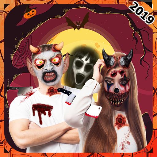 Scary Halloween Makeup : Mask  Makeup Free 2018 -