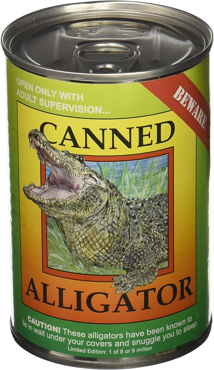 """Amazon.com: Canned Critters Stuffed Animal: Alligator 6"""": Toys & Games"""