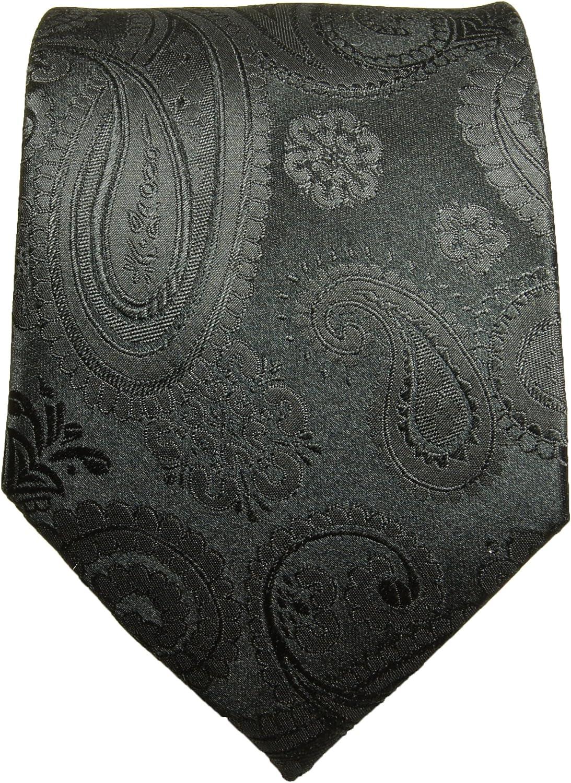 Einstecktuch Paul Malone XL Krawatten Set schwarz 100/% Seidenkrawatte /Überl/änge165cm