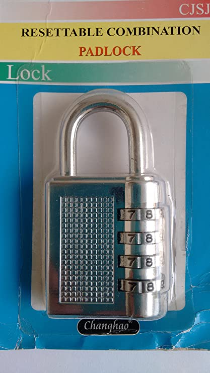 JSC CJSJ Padlock - Resettable Combination Lock
