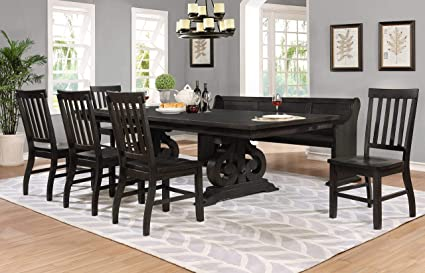 Swell Amazon Com Best Quality Furniture D48 D7 7Pc Dining Set 1 Pdpeps Interior Chair Design Pdpepsorg