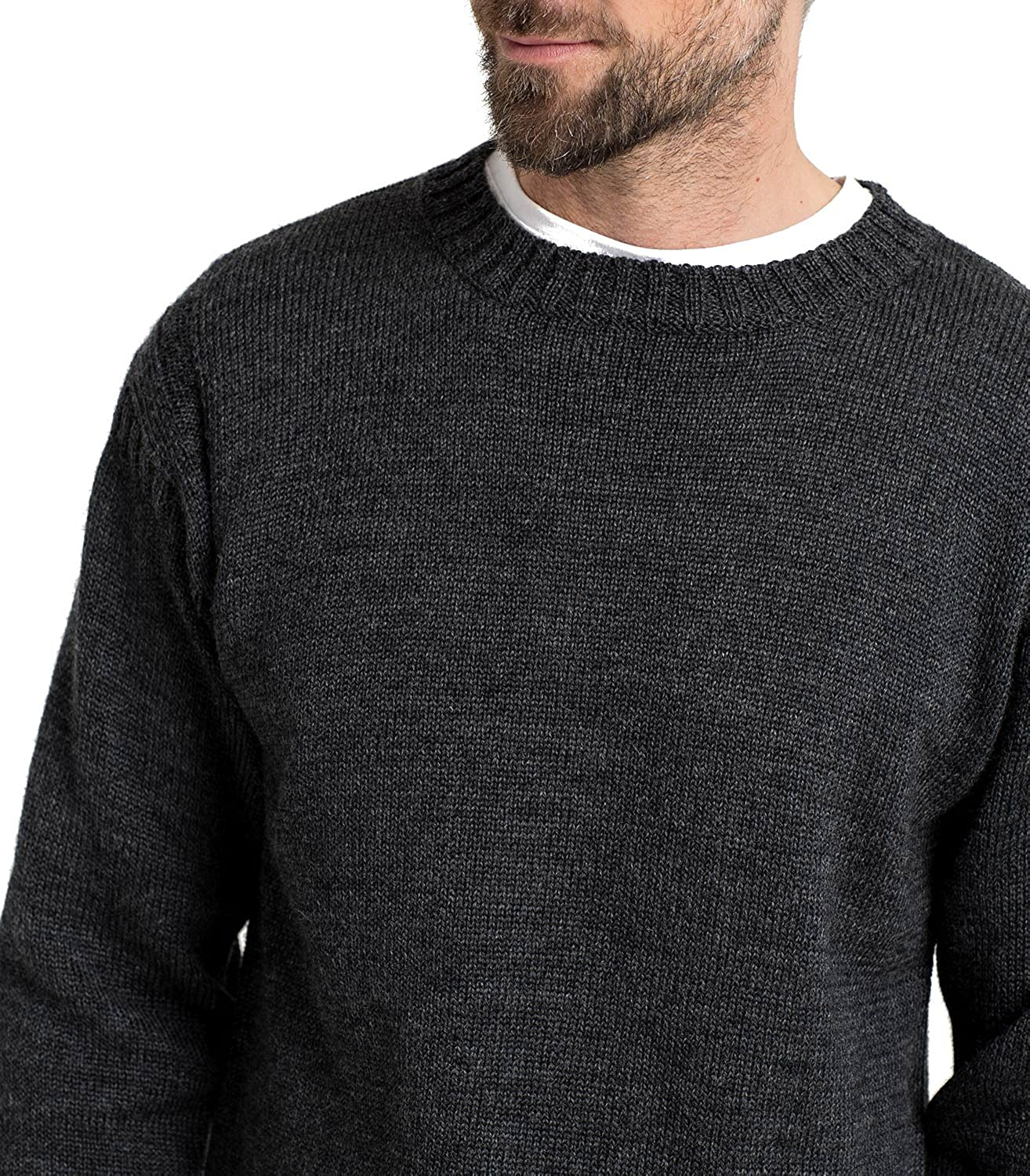 cd24983870f Mens Pure Wool Guernsey Knitted Jumper