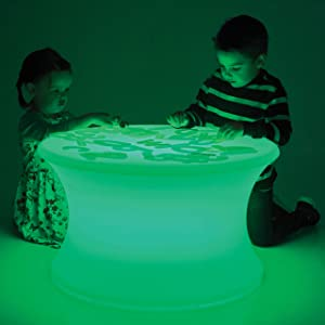 TickiT Sensory Mood Light Table - in Home Learning Station for Sensory Play - Light & Color Exploration - Light Box Table - Decorative Table for Kids - Multicolor