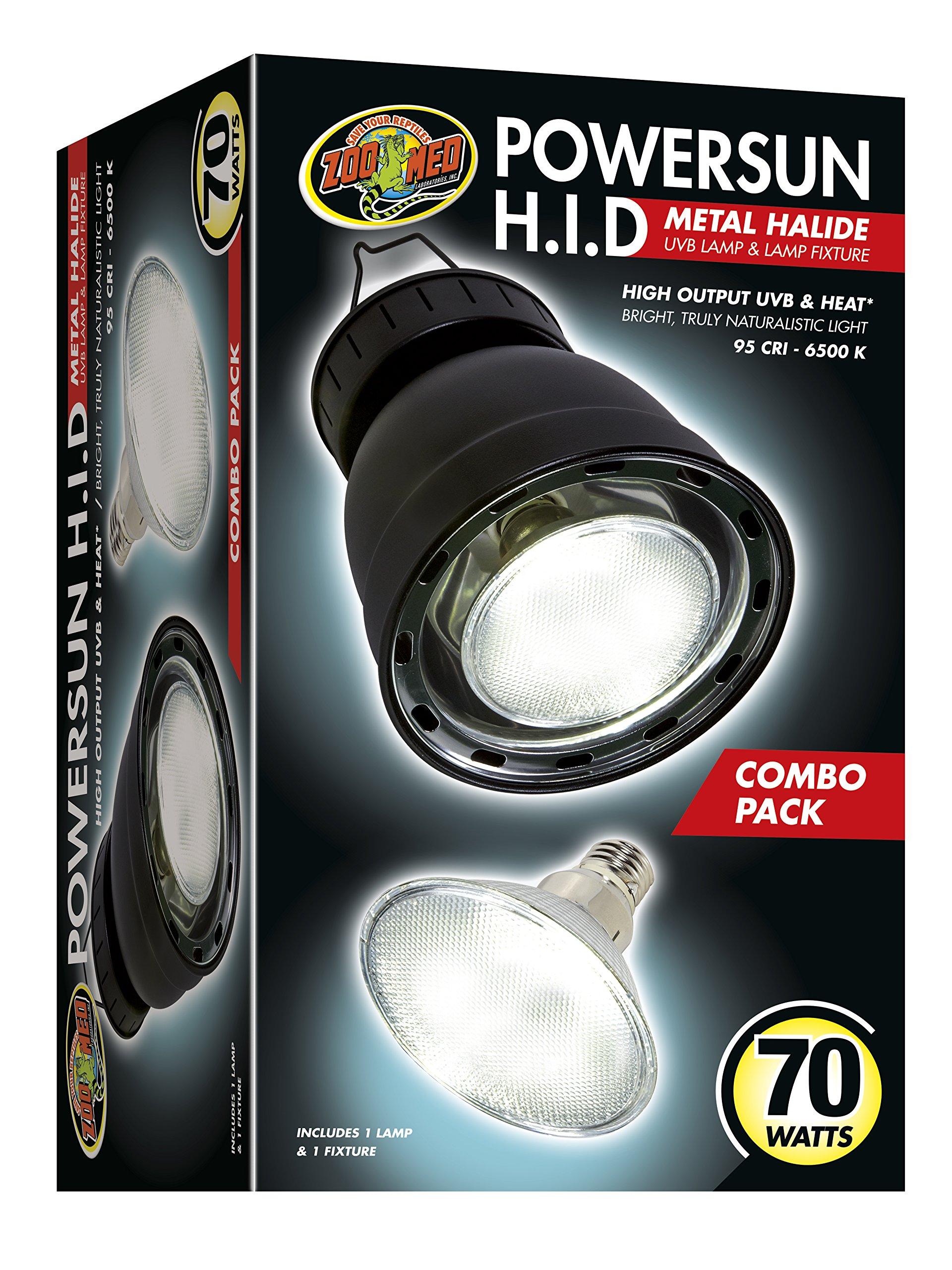 Zoo Med PowerSun H.I.D Metal Halide UVB Lamp & Lamp Fixture by Powersun