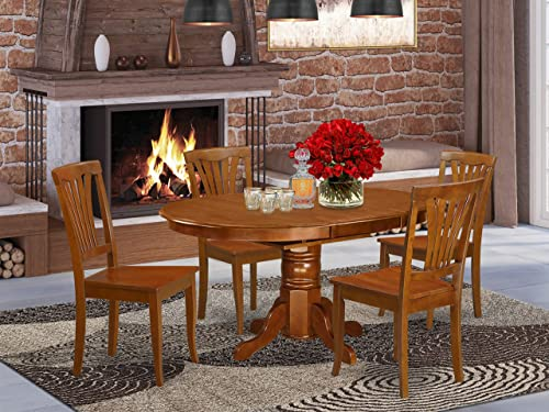 East West Furniture dining room table set 4 Great kitchen chairs
