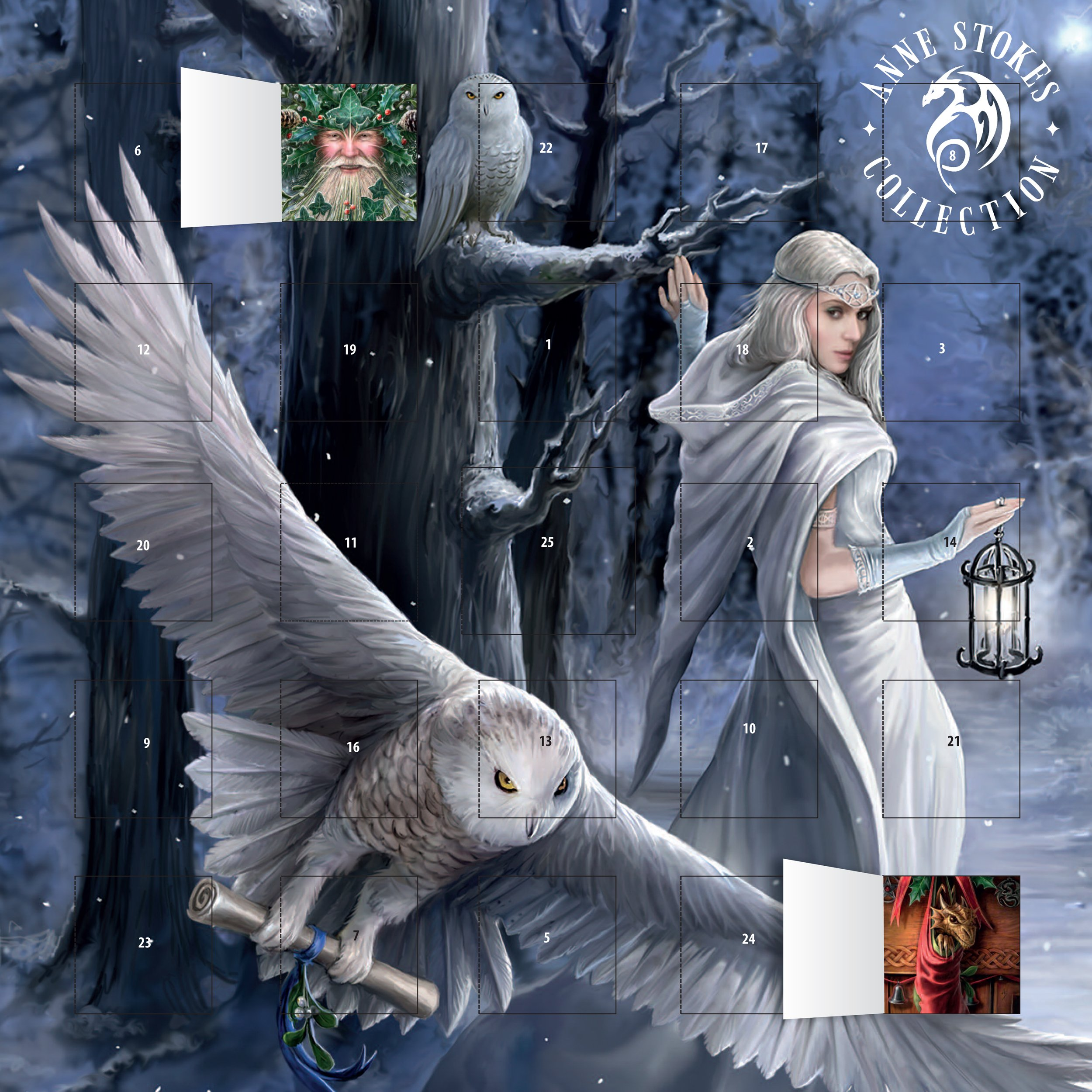 Anne Stokes - Midnight Messenger advent calendar (with stickers) (Anne Stokes Collection)