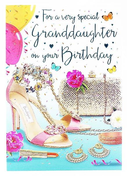 Tarjeta de felicitación de cumpleaños para nieta, chica y ...