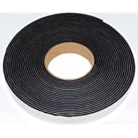 Neoprene sponge rubber self adhesive strip 25mm wide x 3mm thick x 10m long - weather, noise seal