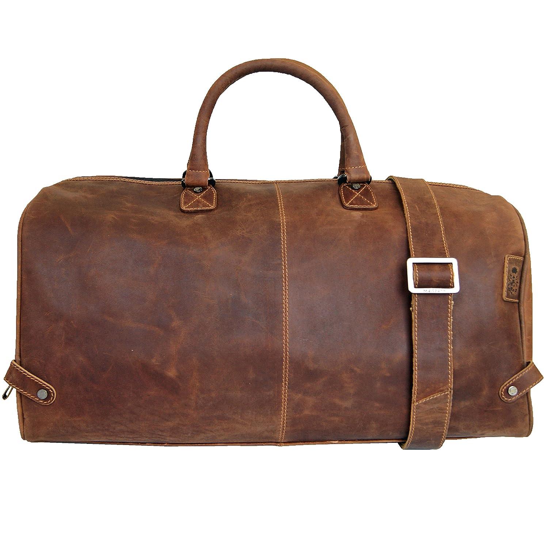 Gusti Cuir studio sac de voyage en cuir made in Italy bagage cabine sac de sport sac à bandoulière sac avec anses cuir naturel cuir de vachette vintage unisexe marron 2R15-97-3 P4yUQu82zg