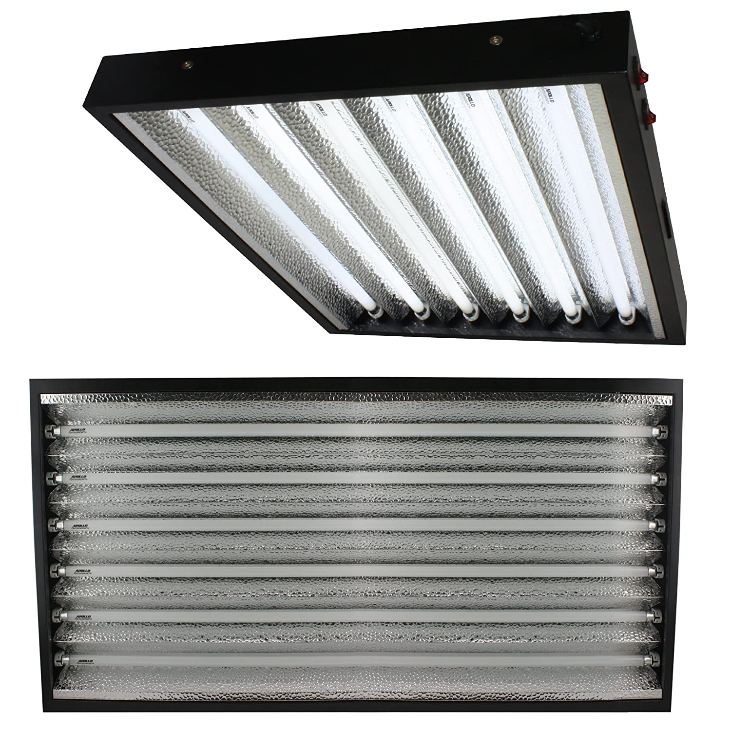 Apollo Horticulture T5 4 Feet / 6 Tube Commercial Fixture with your Choice of Bulbs