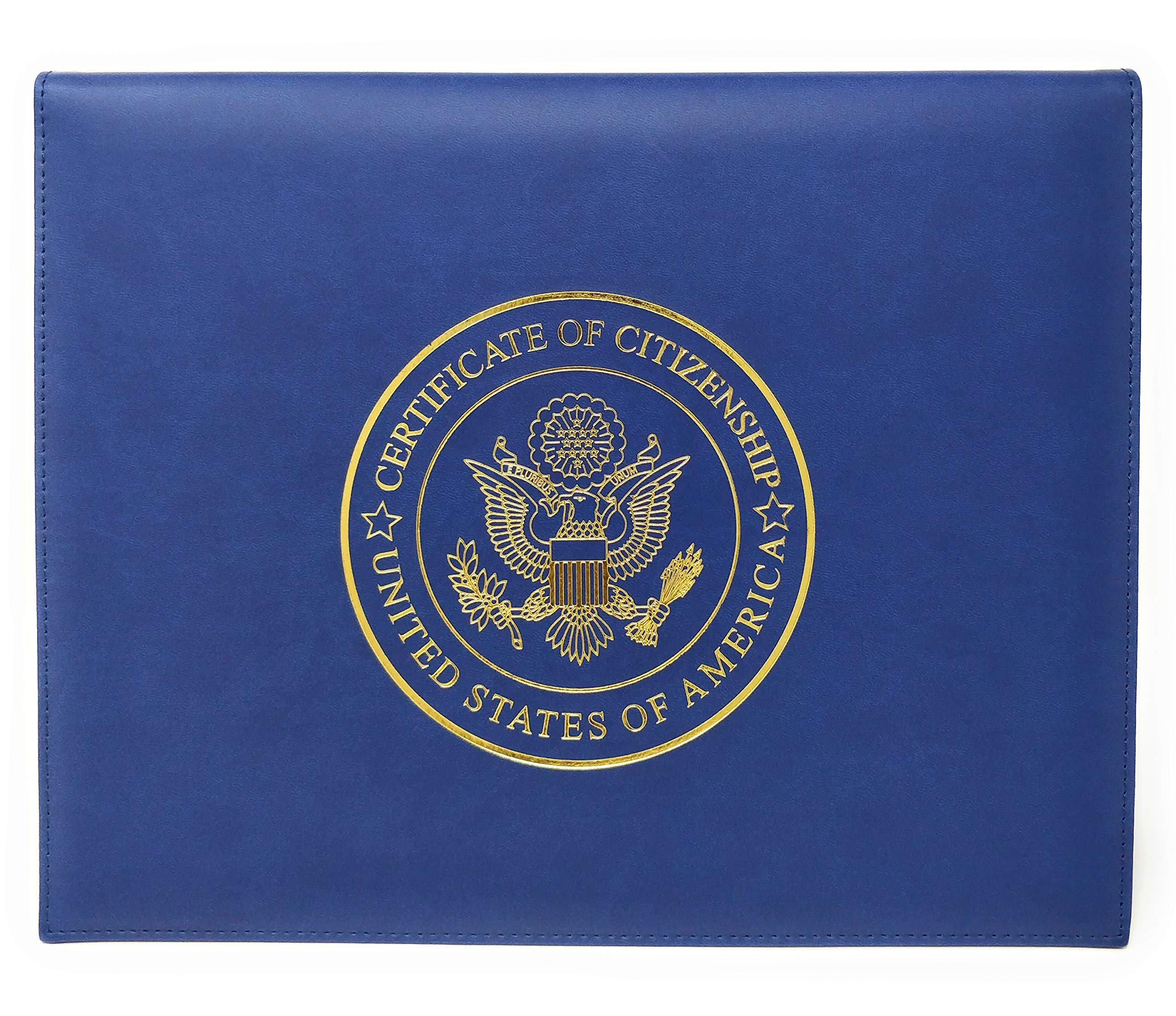 U.S. Citizenship Certificate Holder and Naturalization Certificate Cover Case Folder Frame Unique for New American Citizens 100% by Official Fellow Citizen