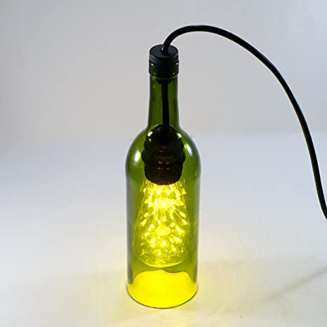 1df559697e16 Wine Bottle Pendant Lamp Light With Fixtures GLASS FLASK ONLY ...