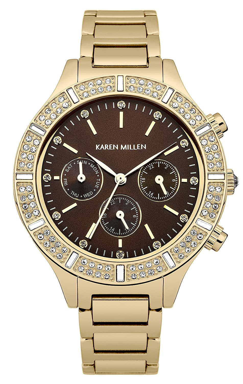 Karen Millen Damen-Armbanduhr Analog Quarz KM103GM