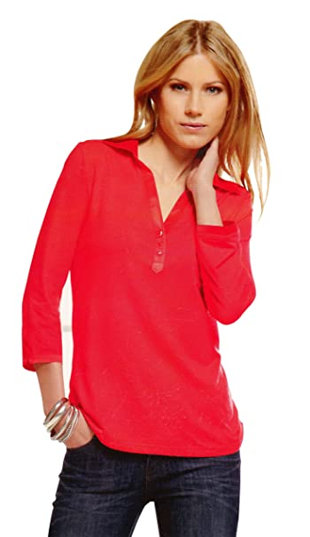 61e047d03 Maks Ladies Viscose Lycra Long Sleeve Polo Shirt With Satin Collar at  Amazon Women's Clothing store: