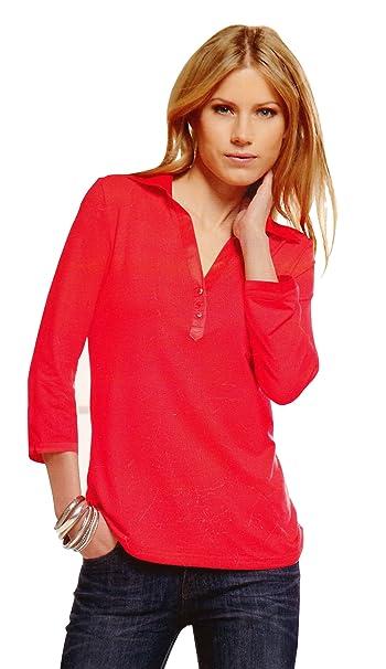 03ebf58f Maks Ladies Viscose Lycra Long Sleeve Polo Shirt With Satin Collar at  Amazon Women's Clothing store: